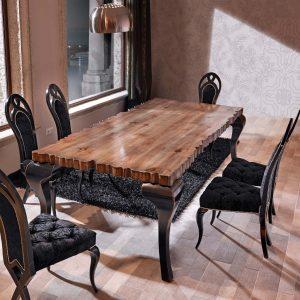 mesa de comedor charol ambiente con otras sillas