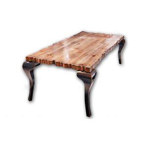 mesa de comedor charol fondo blanco
