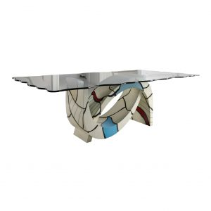 mesa de comedor gaudi fondo blanco