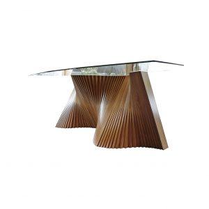 mesa de comedor wave fondo blanco