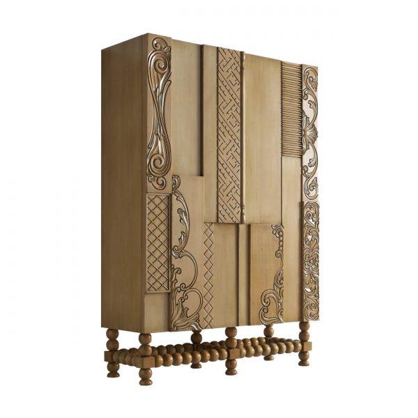 armario nature 2 puertas con 4 estantes a cada lado