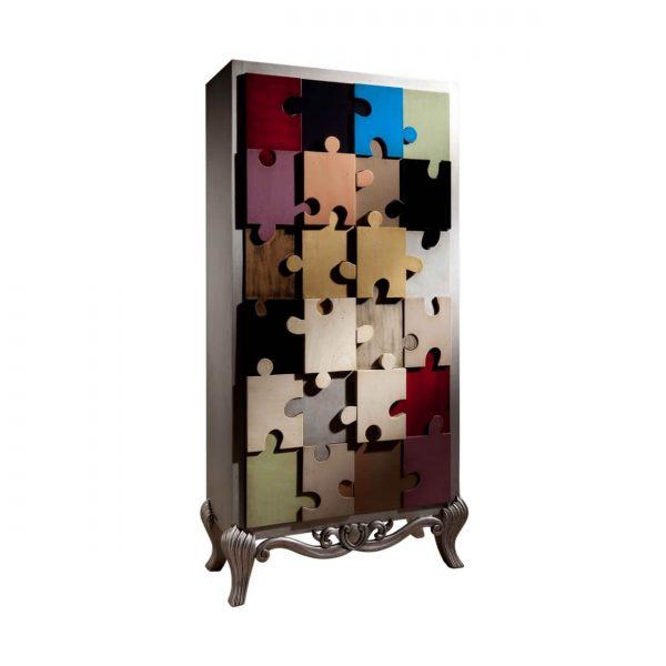 armario puzle 2 puertas y 3 estantes