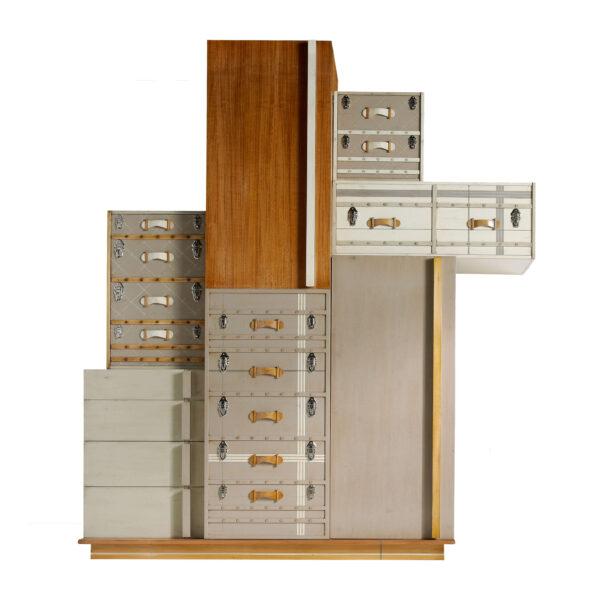 armario suitcase 5 puertas y 4 cajones