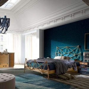 dormitorio con cama atomos, mesilla lux y comoda seller