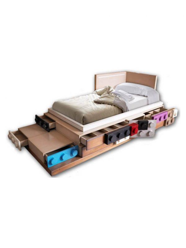 cama lego 1 puerta y 6 cajones