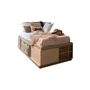 cama suitcase 3 puertas y 2 cajones