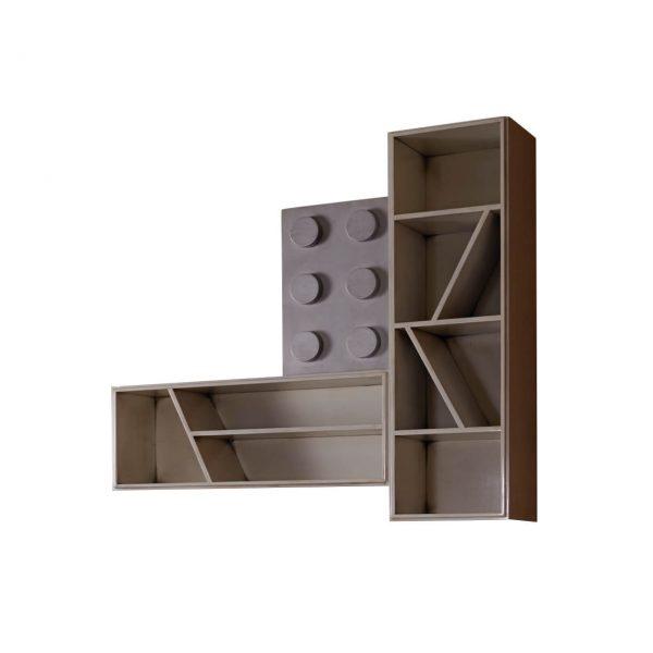 elementos lego 1 puerta y 2 estantes