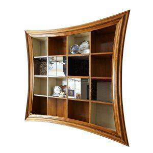 librero barcelona 16 huecos con espejos y tapizados