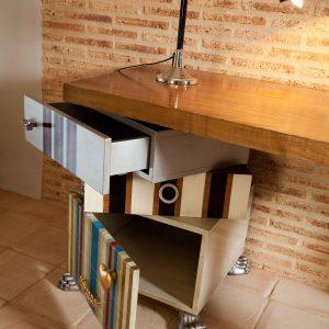 mesa despacho tetris detalle cajones y puerta