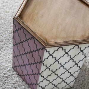 mesita hexagonal 2 detalle desde arriba