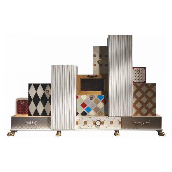 mueble tetris 5 cajones y 7 puertas