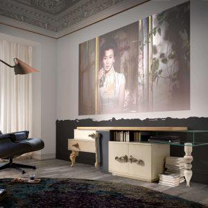 ambiente con sillon y mesa tv london