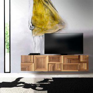 mueble de tv totem suspendido ambiente