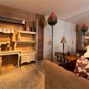 consolas a pared ambiente dormitorio