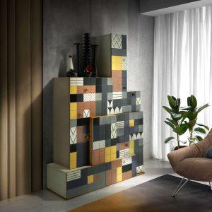 armario mosaico foto de ambiente
