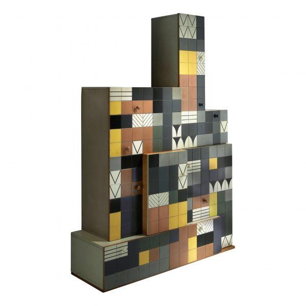 armario mosaico con 2 cajones y 6 puertas