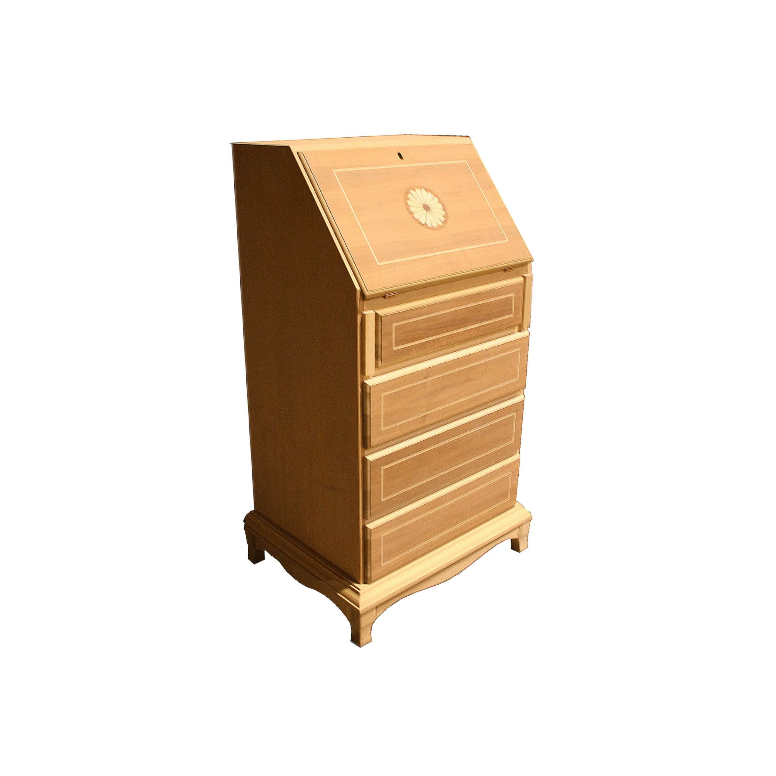 bureau caracola 1 puerta con 2 cajones interiores y 4 cajones