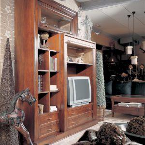 librero tv napoleon detalle de lado
