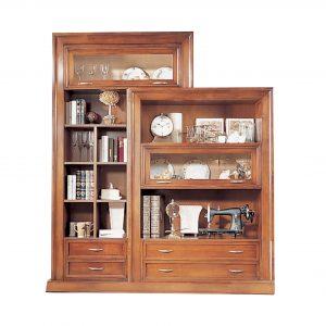 librero tv napoleon fondo blanco 4 cajones y 2 puertas