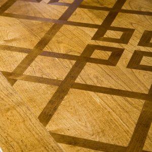 mesa de comedor rectangular detalle sobre