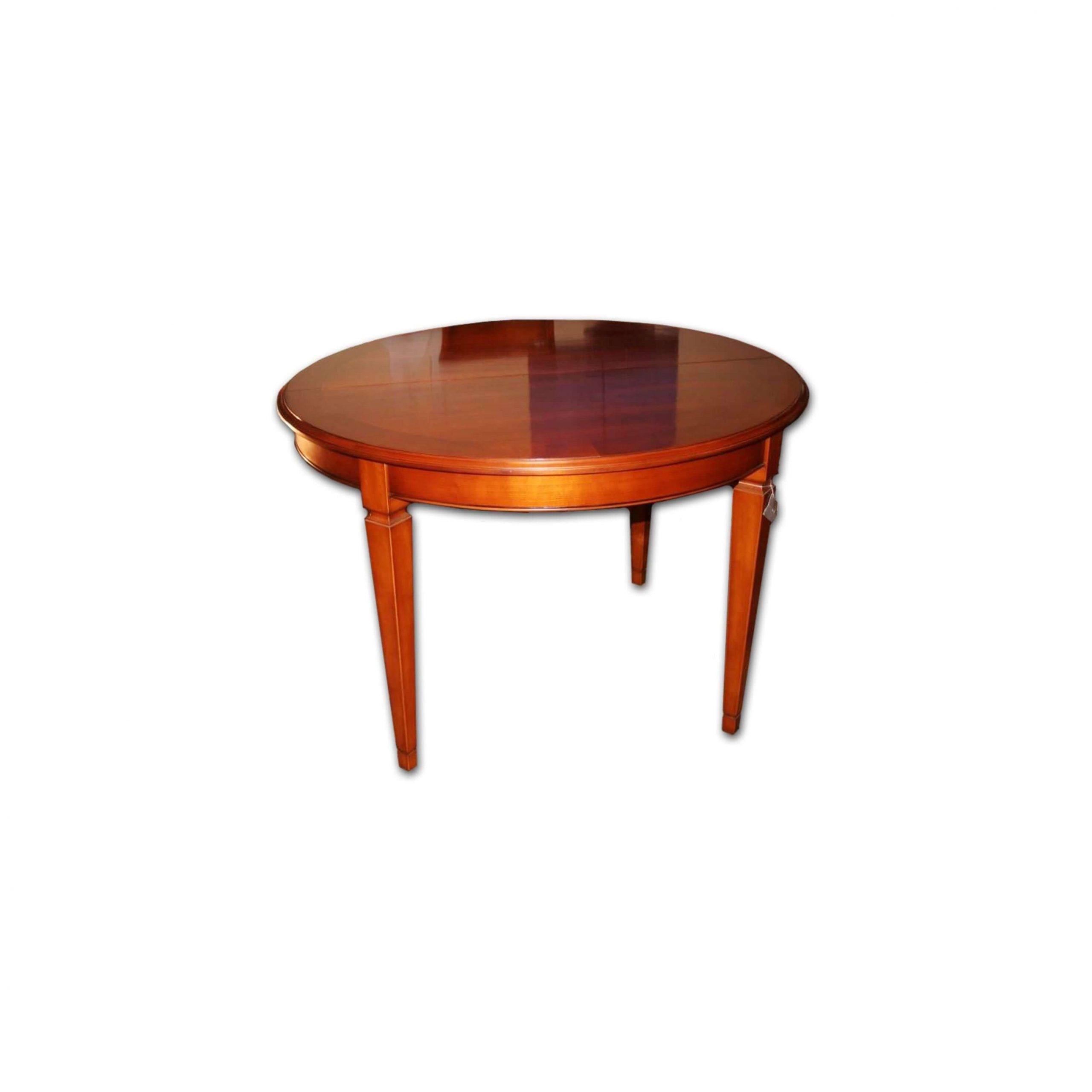 mesa de comedor redonda acabado en pardo