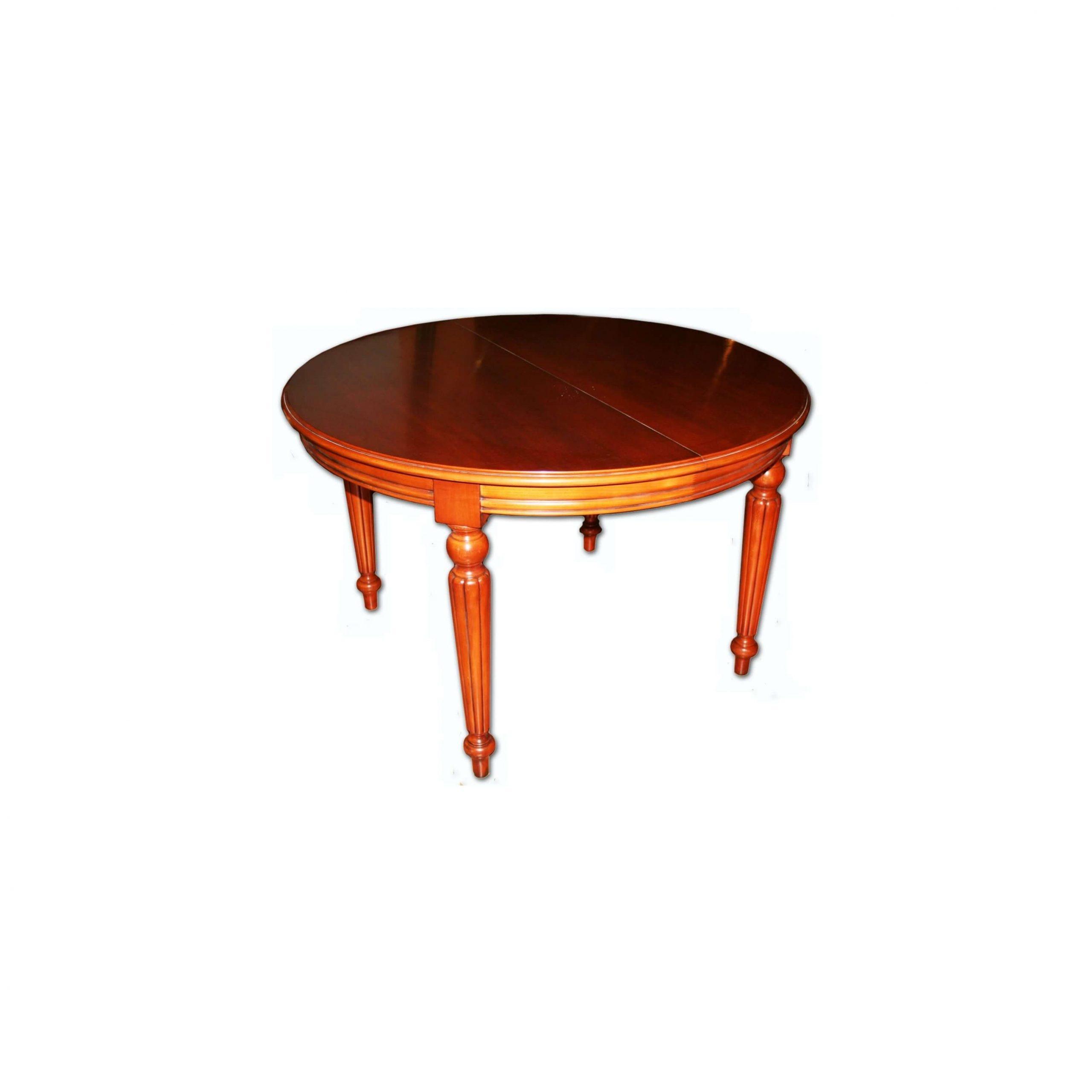 mesa comedor redonda acabado en pardo