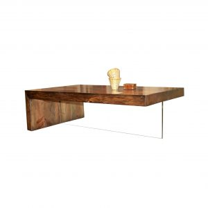 mesa de centro glass fondo blanco