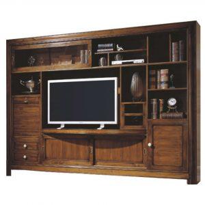 mueble tv acabado en pardo