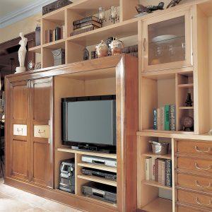 mueble de tv napoleon detalle de lado