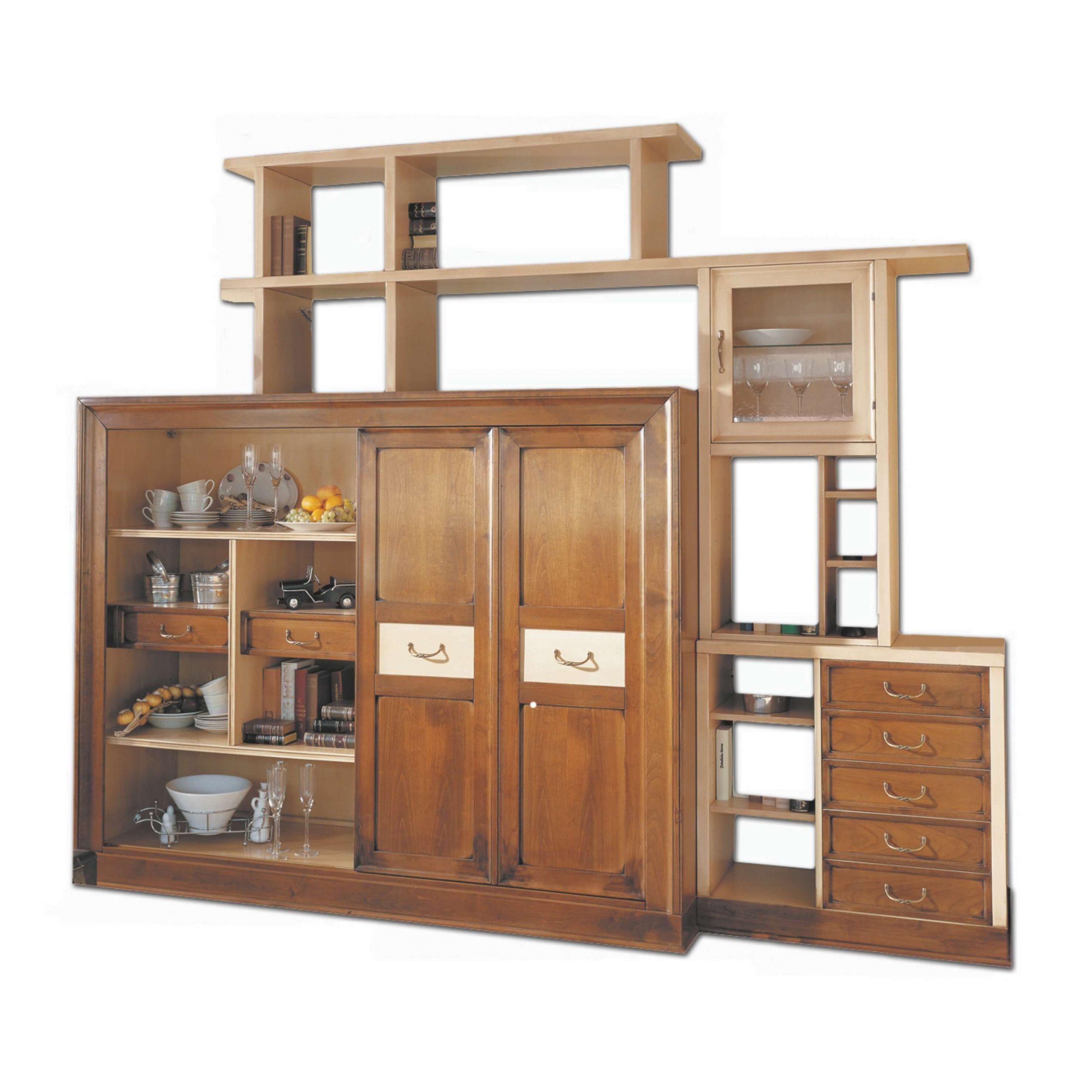 mueble tv napoleon 7 cajones y 1 puerta