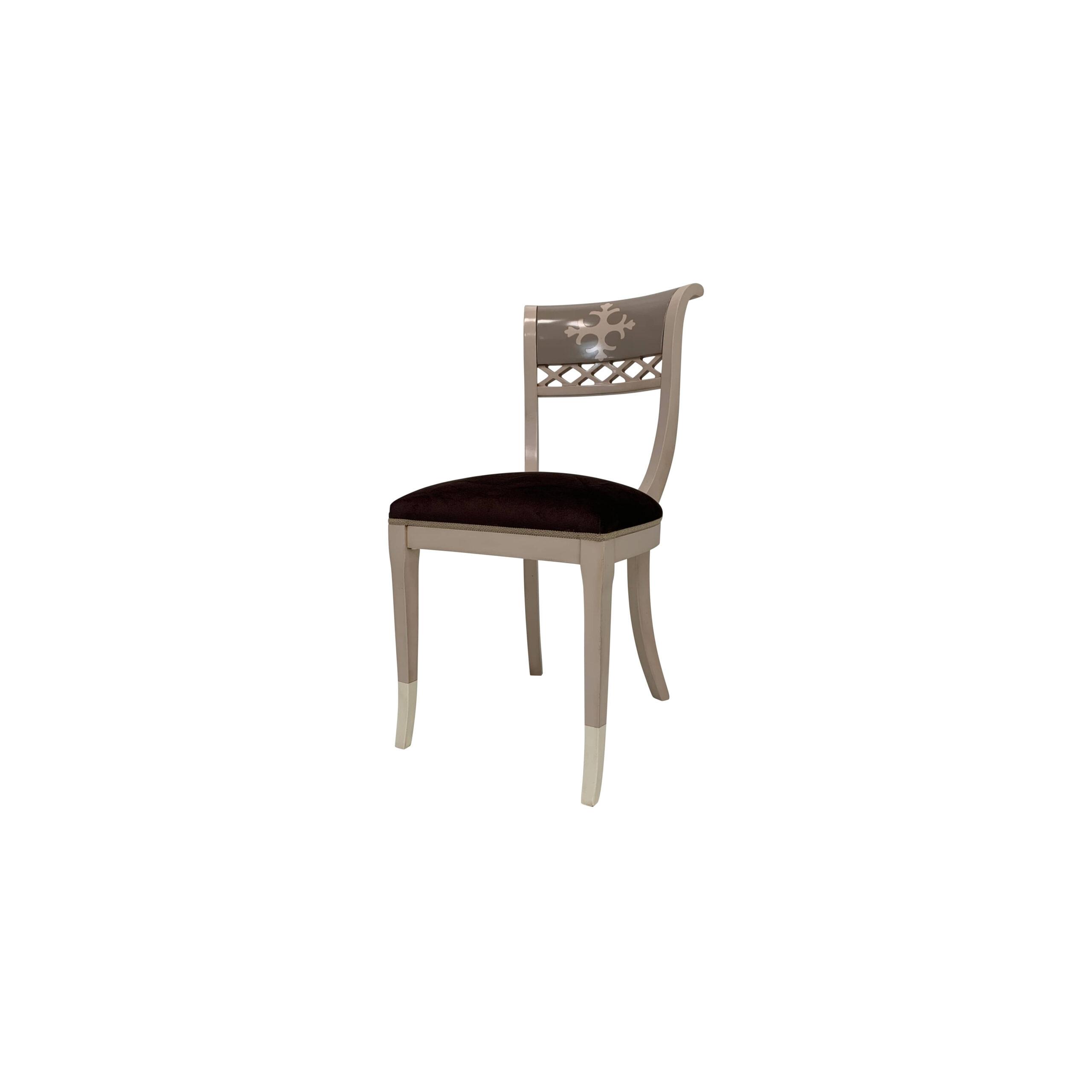 silla alberta acabado en pardo