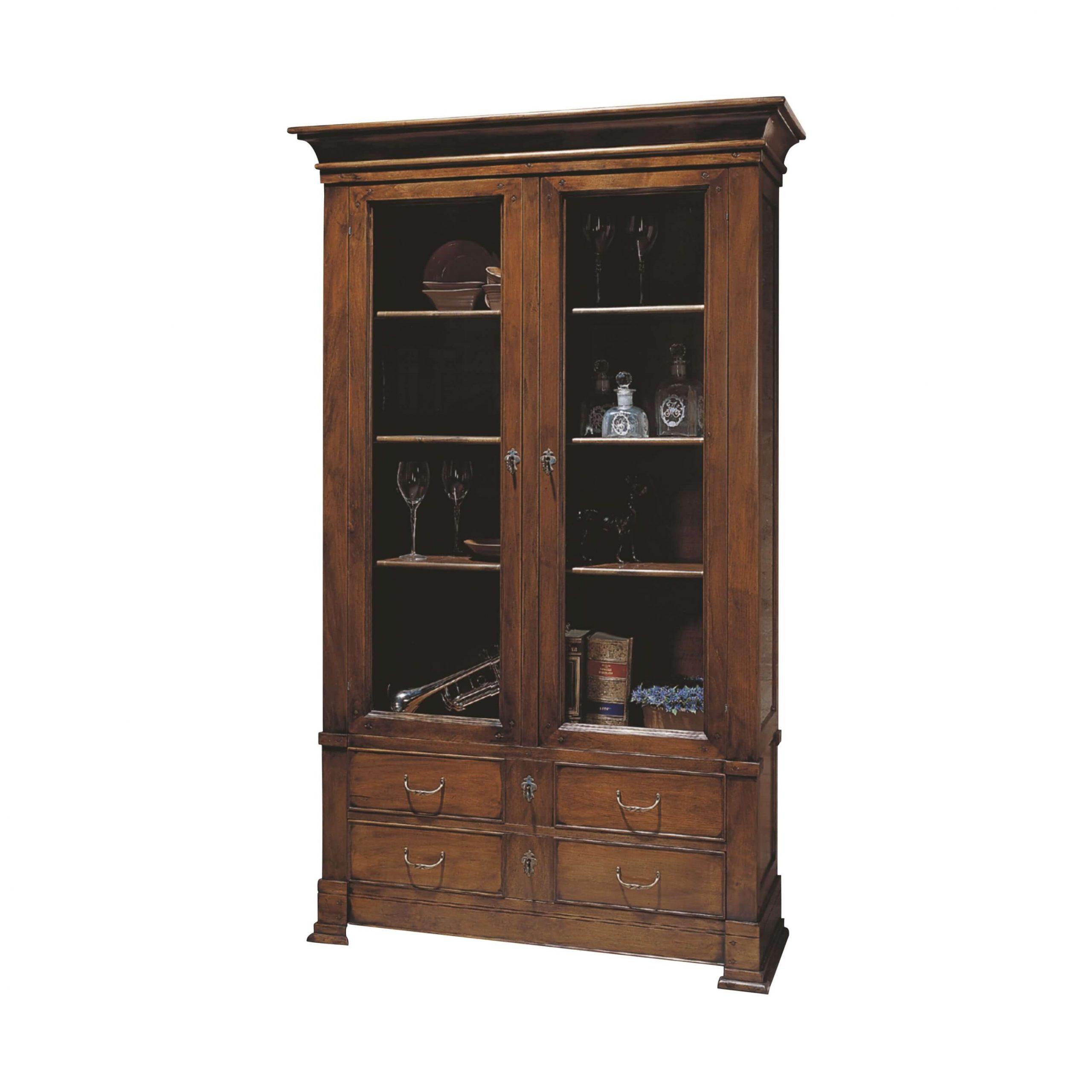 vitrina san juan 2 puertas y 4 cajones