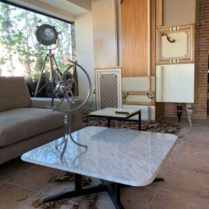mesa de centro marmol pequeña ambiente