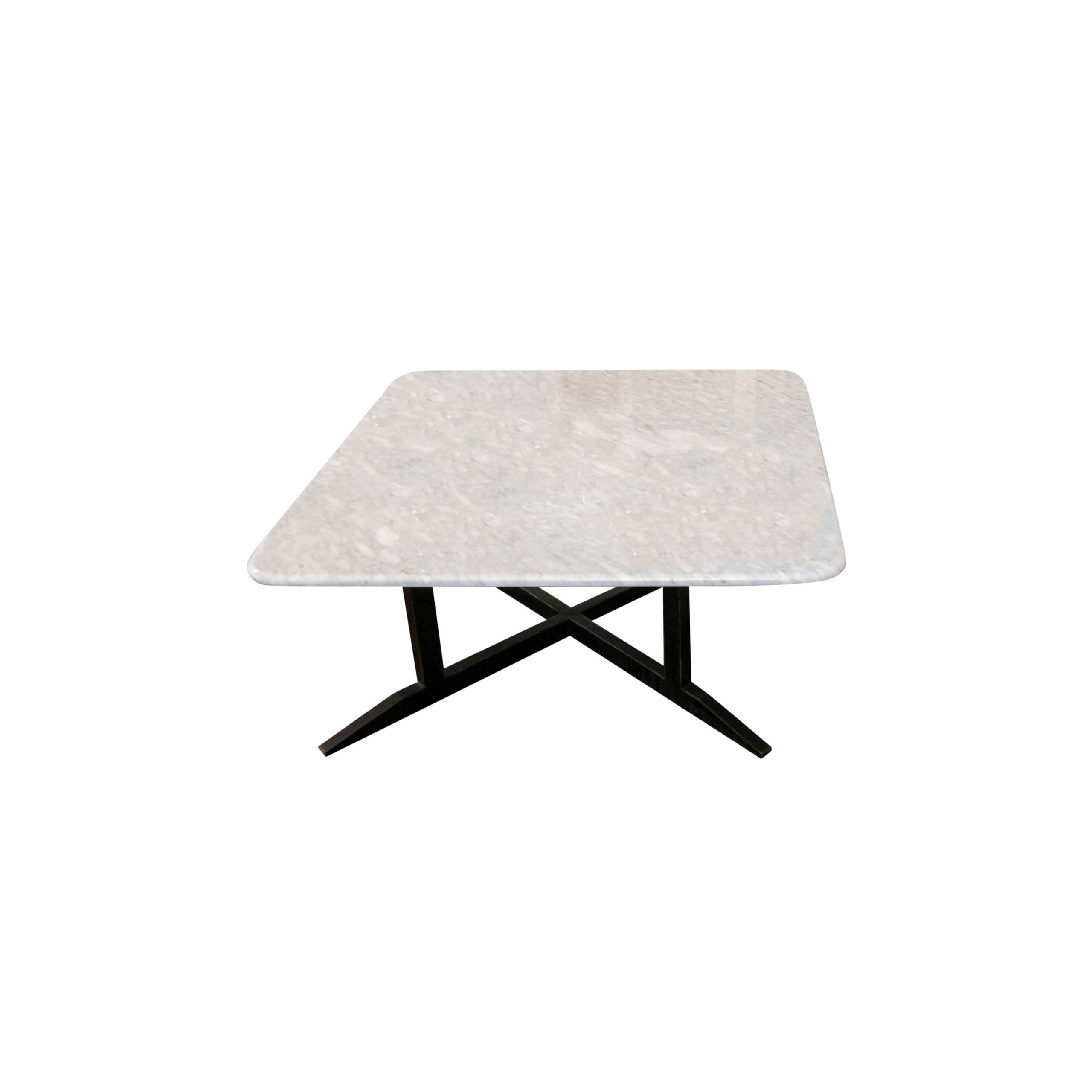 mesa de centro marmol en fondo blanco