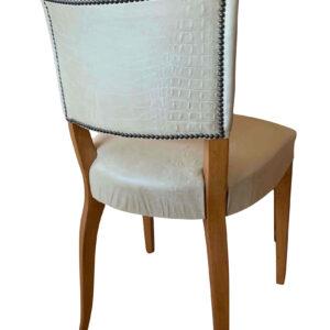 silla egipcia detalle tapizado trasera