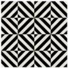 panel de madera diagonal acabado en negro y marfil detalle