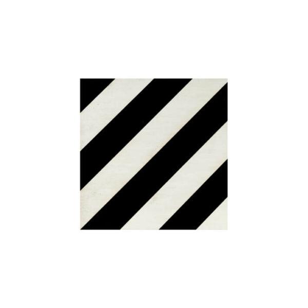 panel de madera diagonal acabado en negro y marfil