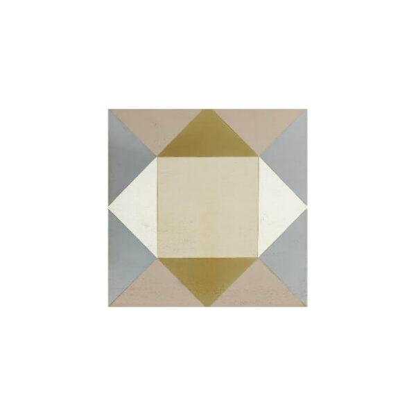 panel de madera acabado en marfil oro perla cafe y plata patina