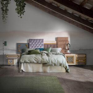 cabecero one ambiente con cama