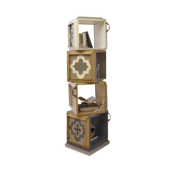 librero giratorio pop 4 estantes